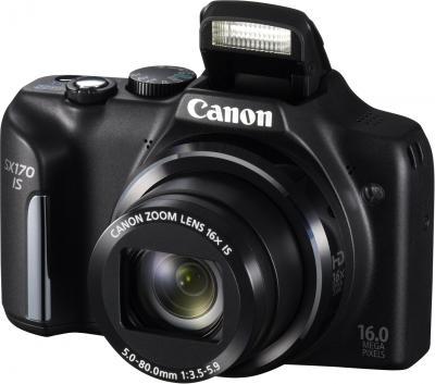 Компактный фотоаппарат Canon PowerShot SX170 IS (черный) - общий вид