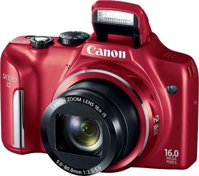 Компактный фотоаппарат Canon PowerShot SX170 IS (красный) - общий вид