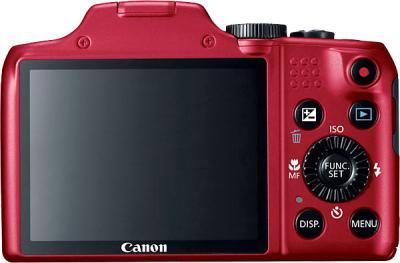 Компактный фотоаппарат Canon PowerShot SX170 IS (красный) - вид сзади