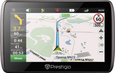 GPS навигатор Prestigio GeoVision 5000 (PGPS5000CIS04GBNV) - фронтальный вид