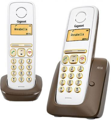 Беспроводной телефон Gigaset A130 Duo (Brown) - общий вид