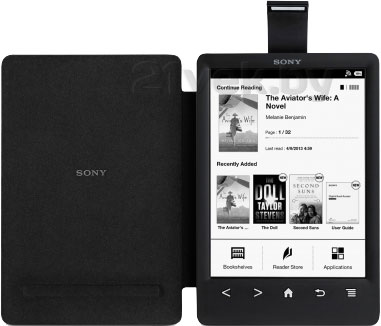 Обложка с подсветкой для электронной книги Sony PRSA-CL30 (черный) - собщий вид