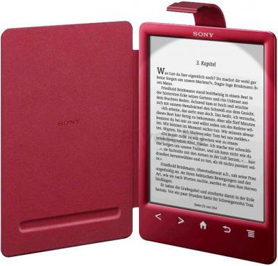 Обложка для электронной книги Sony PRSA-CL30 (Red) - с включенной подсветкой