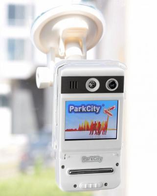 Автомобильный видеорегистратор ParkCity DVR HD 500 (White) - в автомобиле