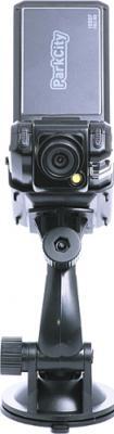 Автомобильный видеорегистратор ParkCity DVR HD 520 - фронтальный вид с креплением
