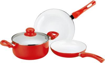 Набор кухонной посуды Calve CL-1922 - в красном цвете