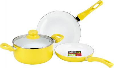 Набор кухонной посуды Calve CL-1922 - в желтом цвете
