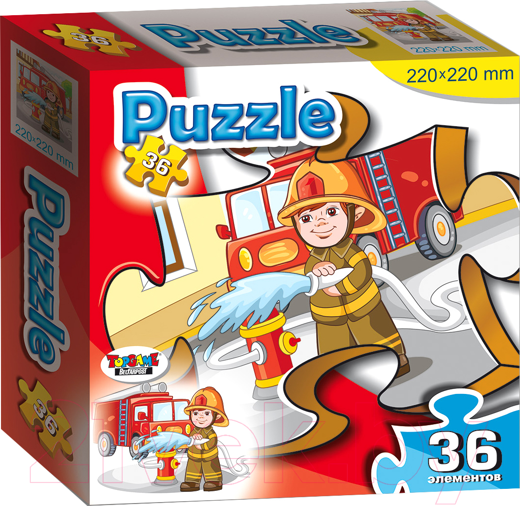 Пазл Topgame Пожарный / 01164