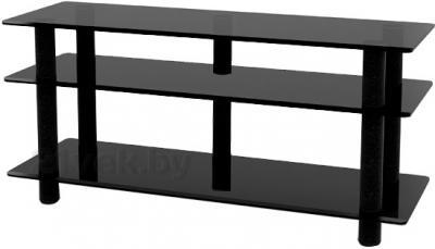 Стойка для ТВ/аппаратуры Поливестстрой PLc 50/3/4 (черно-графитовый) - общий вид