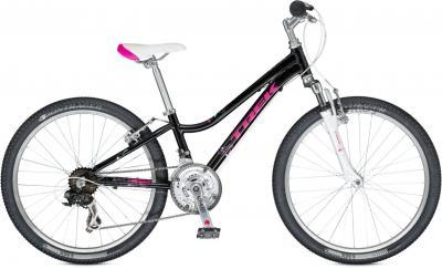 Велосипед Trek MT 220 Girl (24, черно-розовый, 2014) - общий вид