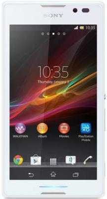 Смартфон Sony Xperia C / C2305 (белый) - общий вид
