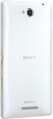Смартфон Sony Xperia C / C2305 (белый) - задняя панель