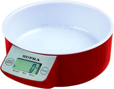 Кухонные весы Supra BSS-4085 (Red) - общий вид