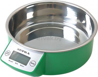 Кухонные весы Supra BSS-4090 (зеленый) - общий вид