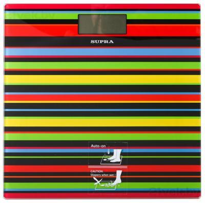 Напольные весы электронные Supra BSS-2080 (черные полоски) - общий вид