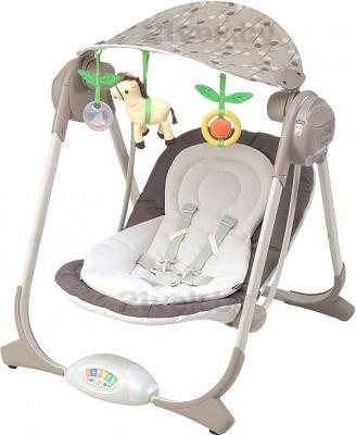 Качели для новорожденных Chicco Polly Swing (Natural) - общий вид