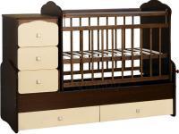 Детская кровать-трансформер СКВ 930038-9 (венге-слоновая кость) -