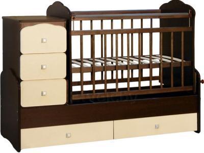 Детская кровать-трансформер СКВ 930038-9 (венге-слоновая кость) - общий вид