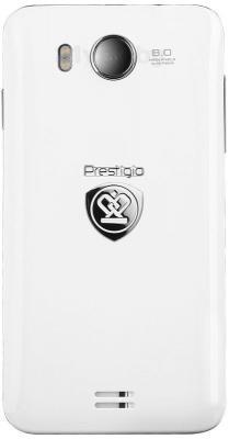 Смартфон Prestigio Multiphone 5400 Duo (белый) - задняя панель