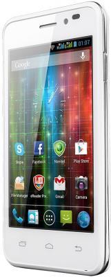 Смартфон Prestigio Multiphone 5400 Duo (белый) - полубоком