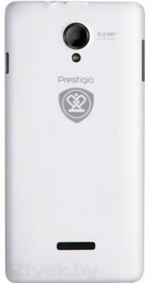Смартфон Prestigio MultiPhone 5451 DUO (белый) - задняя панель