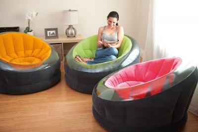 Надувное кресло Intex 68582NP - все варианты расцветок