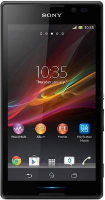 Смартфон Sony Xperia C / C2305 (черный) - общий вид