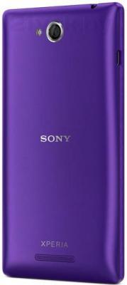 Смартфон Sony Xperia C / C2305 (фиолетовый) - задняя панель