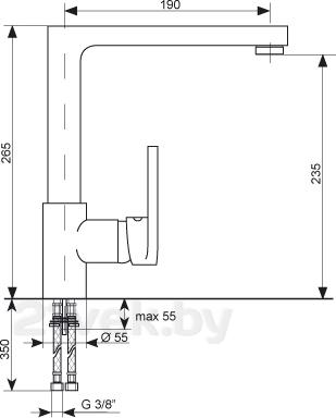 Смеситель Gran-Stone GS 4072 (White) - схема