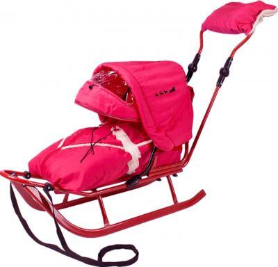 Санки детские Adbor Piccolino Deluxe (Pink) - общий вид