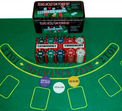 Набор для покера NoBrand G-22 (в коробке, 200 фишек) - общий вид