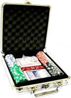 Набор для покера NoBrand M-1 (в чемодане, 100 фишек) -