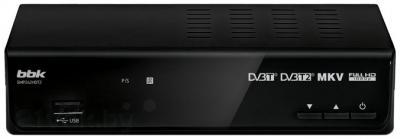 Тюнер цифрового телевидения BBK SMP242HDT2 (черный) - общий вид