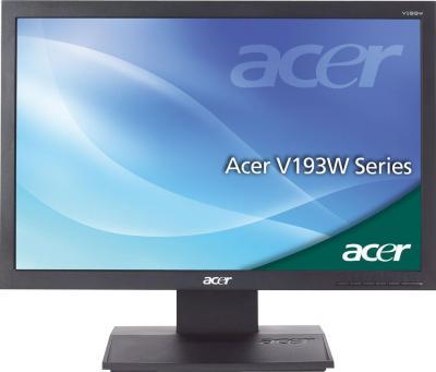 Монитор Acer V193LAObmd - фронтальный вид