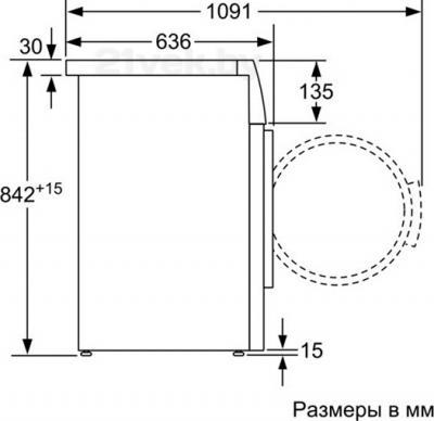 Сушильная машина Bosch WTB66211OE - схема