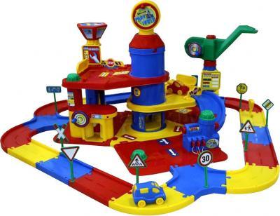 Детский паркинг Полесье 3-уровневый с дорогой и автомобилями / 37862 (в коробке) - общий вид