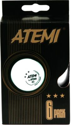 Мячи для настольного тенниса Atemi 1906-3 (Orange) - набор шариков