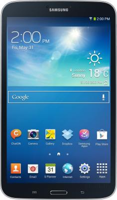 Планшет Samsung Galaxy Tab 3 8.0 SM-T310 (16GB, Midnight Black) - фронтальный вид