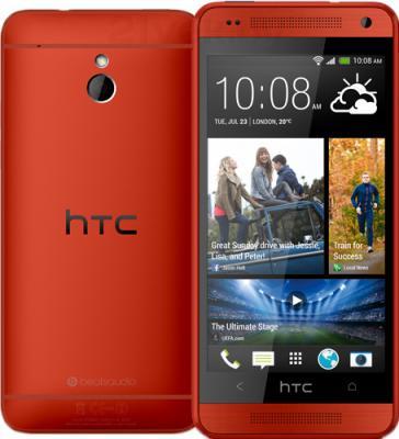 Смартфон HTC One mini (красный) - передняя и задняя панели