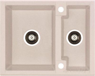 Мойка кухонная Alveus Cubo 20 (Latte) - цвет на фото может несколько отличаться от оригинала