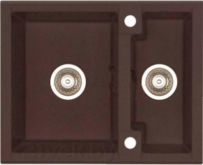 Мойка кухонная Alveus Cubo 20 (Espresso) - цвет на фото может несколько отличаться от оригинала
