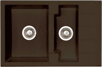 Мойка кухонная Alveus Cubo 40 (Espresso) - цвет на фото может несколько отличаться от оригинала, смотрите следующее фото