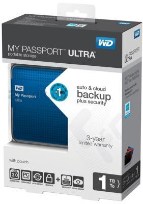 Внешний жесткий диск Western Digital My Passport Ultra 1TB Blue (WDBJNZ0010BBL) - в упаковке