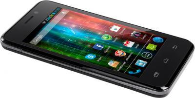 Смартфон Prestigio Multiphone 5400 Duo (черный) - вид лежа