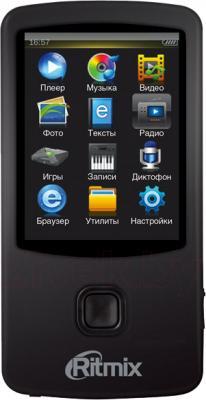 MP3-плеер Ritmix RF-7100 (8GB, черный) - общий вид