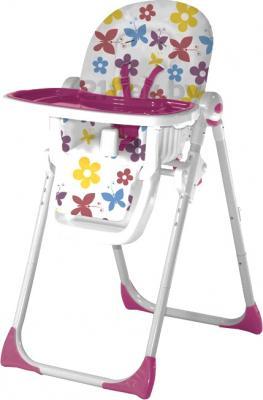 Стульчик для кормления Lorelli Siesta (Butterfly Flowers Pink) - общий вид