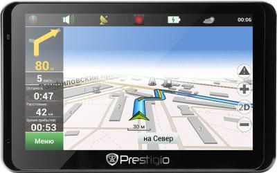 GPS навигатор Prestigio GeoVision 5850 HDDVR (PGPS5850CIS8HDDVRNV) - фронтальный вид