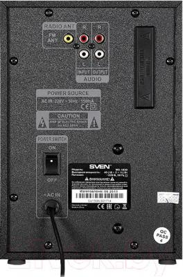 Мультимедиа акустика Sven MS-1820 (черный) - вид сзади