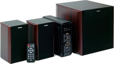 Мультимедиа акустика Sven MS-3000 (вишня) - общий вид