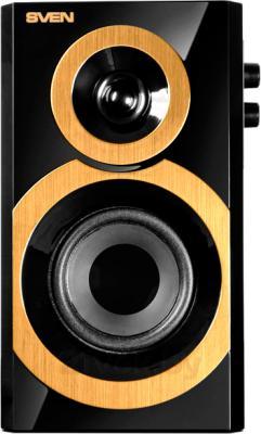 Мультимедиа акустика Sven SPS-619 (черно-золотой) - фронтальный вид